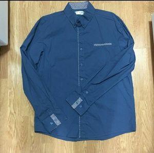 Men's navy dress shirt